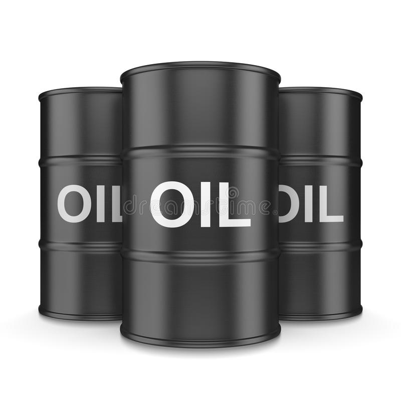 Tonneaux à huile illustration libre de droits