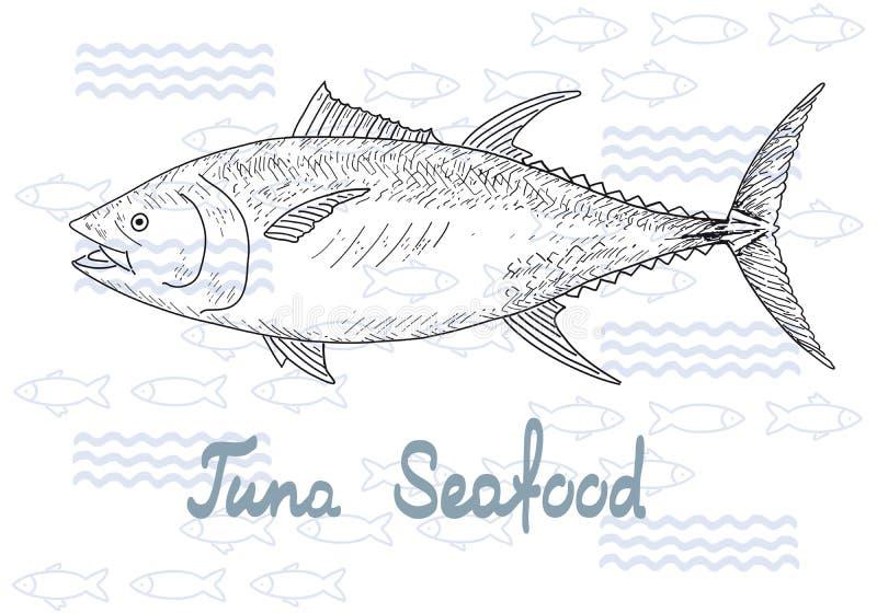Tonno di vettore del pesce royalty illustrazione gratis
