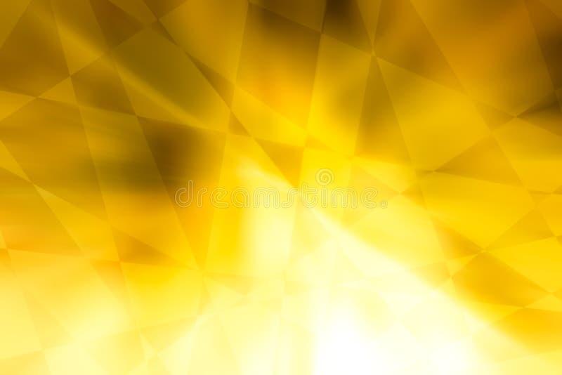 Tono abstracto del color oro con el estilo de los triángulos y de los cuadrados para el fondo ilustración del vector