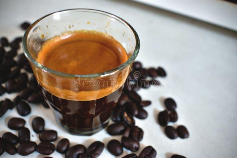 Tono d'annata di colore del caffè espresso fotografia stock libera da diritti