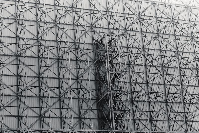 Tono de acero del color oscuro de la construcción para el metal fuerte sólido fotos de archivo libres de regalías