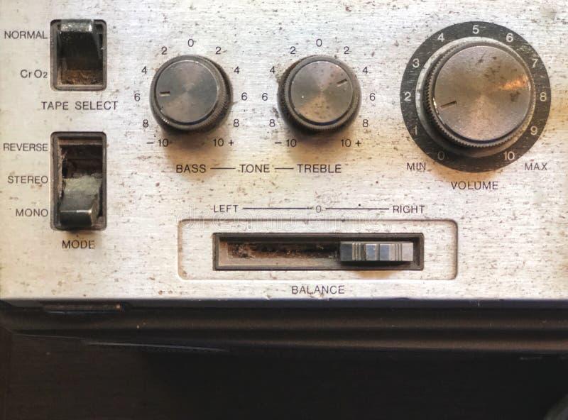Tono del equalizador del sonido Herramientas del vintage del control sano foto de archivo libre de regalías