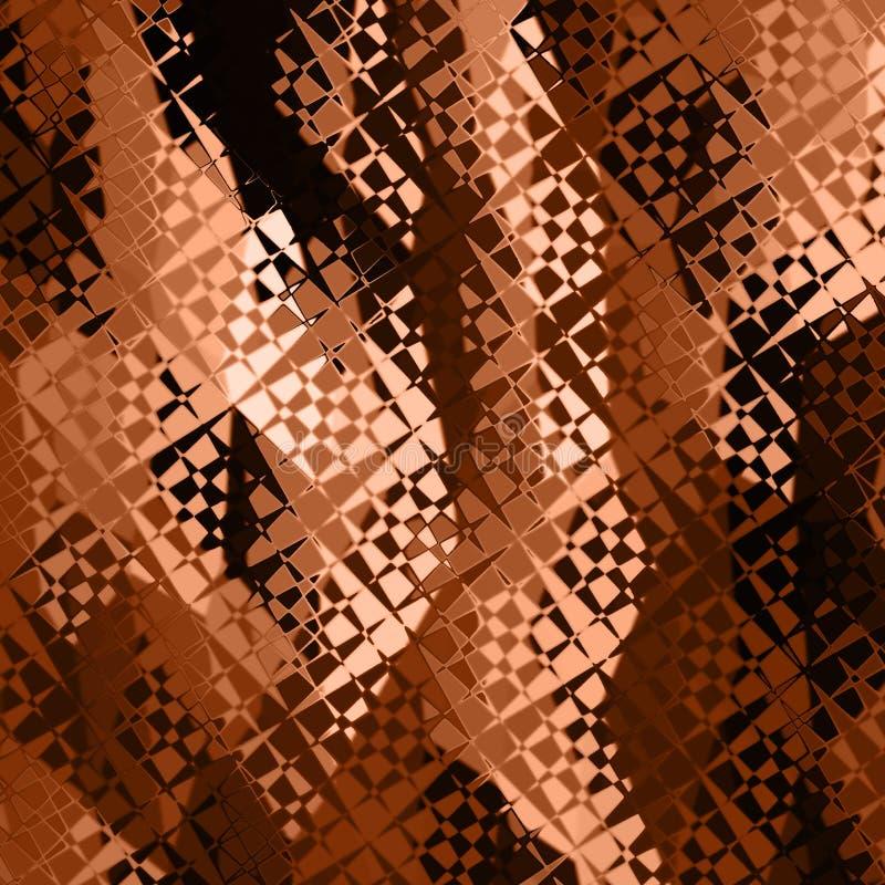 Tono geométrico del marrón del fondo libre illustration