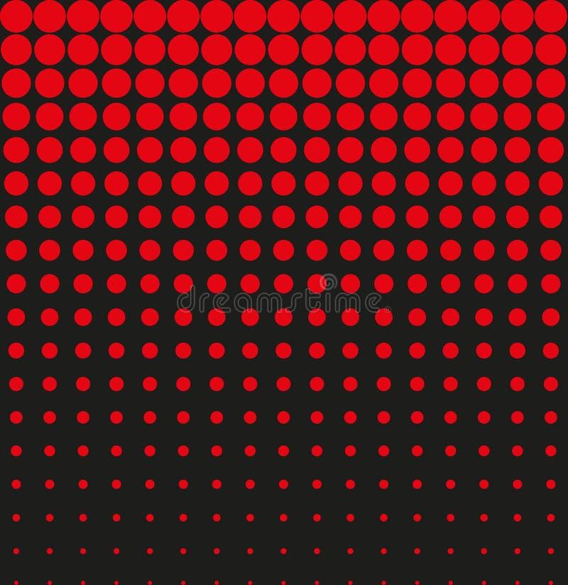 Tono medio abstracto del rojo del negro del fondo stock de ilustración