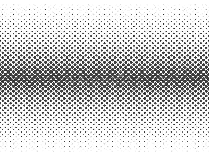 Tono medio abstracto Puntos negros aislados en el fondo blanco Ejemplo de semitono del vector St de moda libre illustration