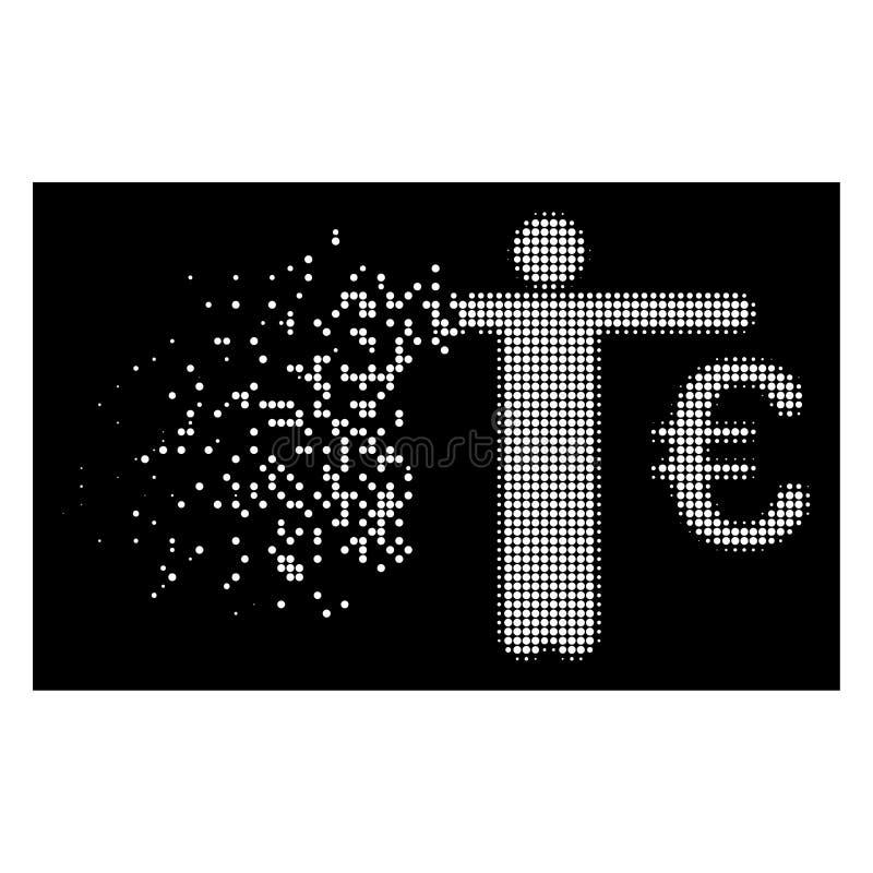 Tono medio de desintegración brillante Person Compare Euro Dollar Icon del pixel libre illustration