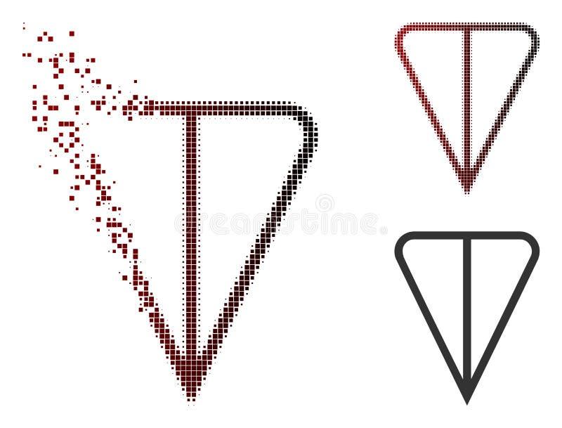 Tono medio de disolución Ton Currency Icon de Pixelated stock de ilustración