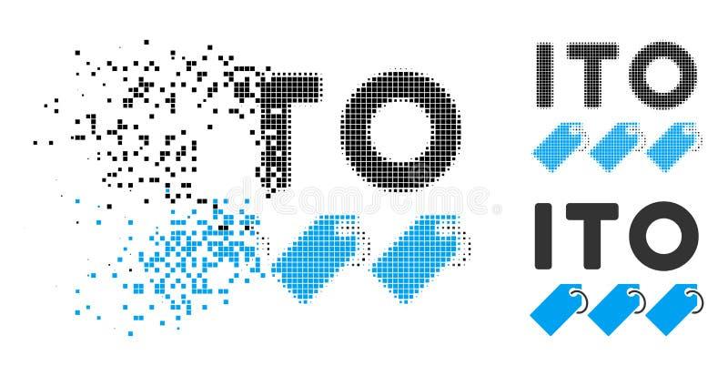 Tono medio disipado ITO Tokens Icon de Pixelated stock de ilustración