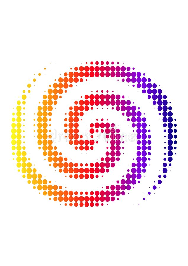 Tono medio espiral libre illustration