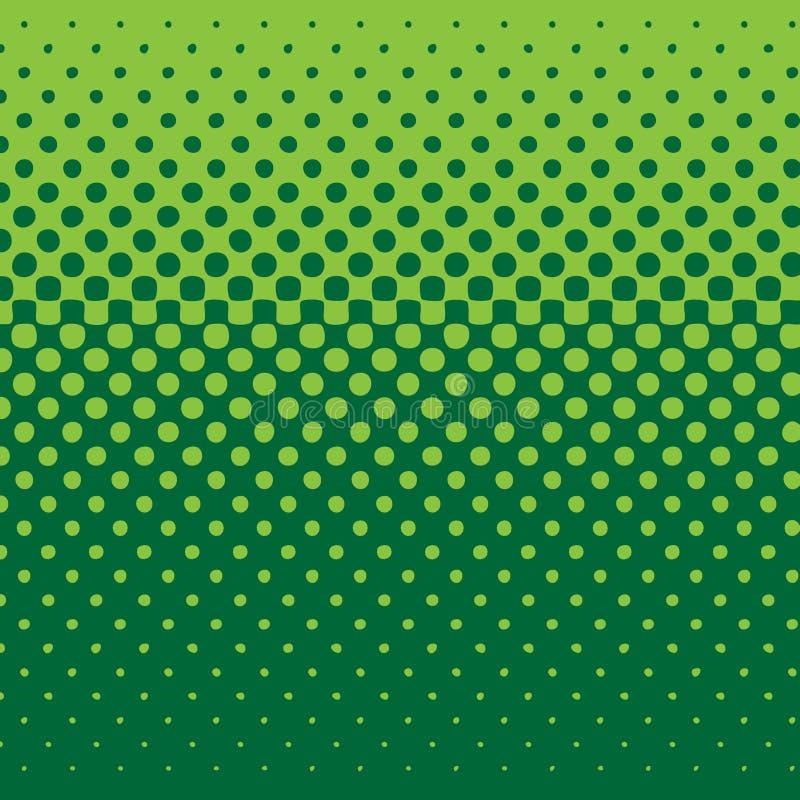 Tono medio linear - verde stock de ilustración
