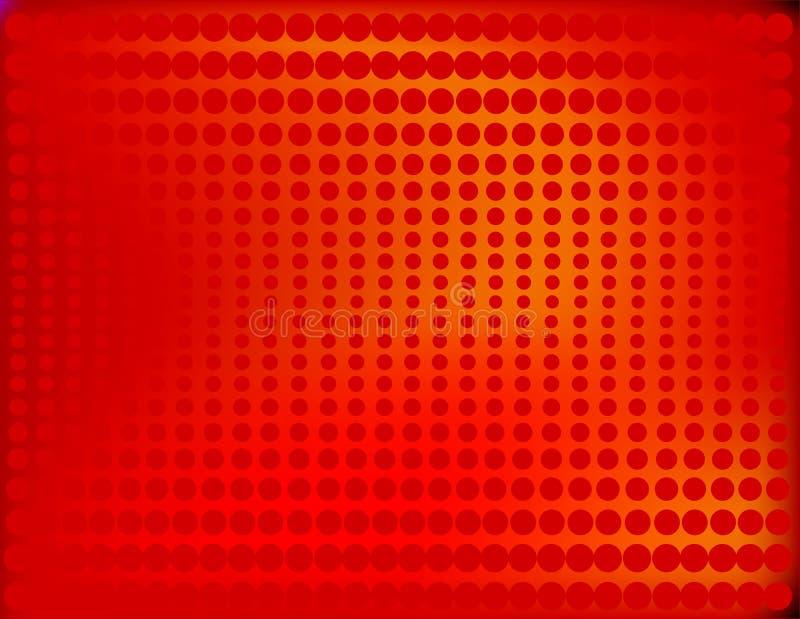Tono medio radiante en rojo ilustración del vector