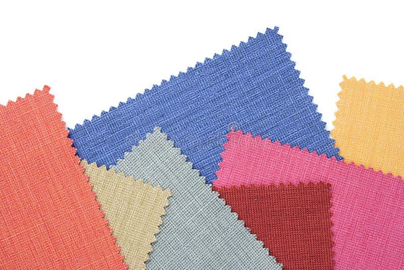 Tono multicolor de la muestra de la tela fotografía de archivo
