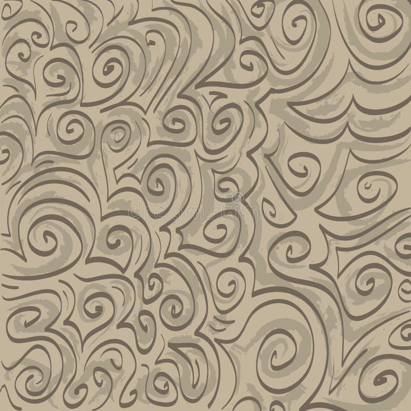 Tono sul tono Swirlies illustrazione vettoriale