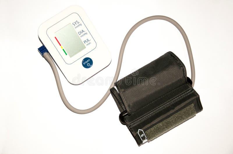 Tonometer médico, medidor da pressão sanguínea isolado no branco imagem de stock