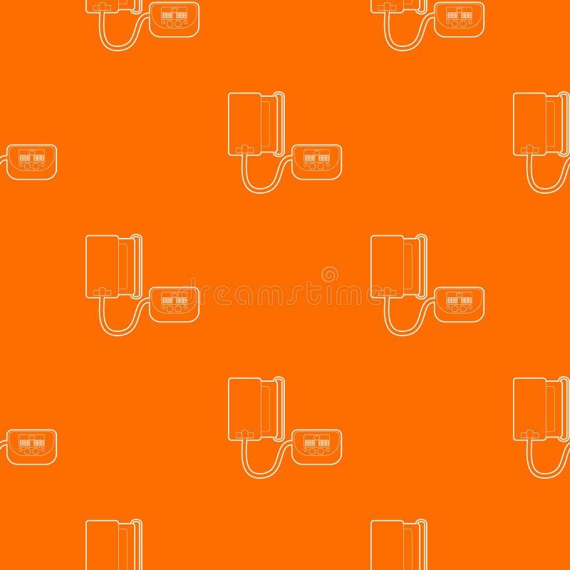 Tonometer pattern vector orange. For any web design best stock illustration