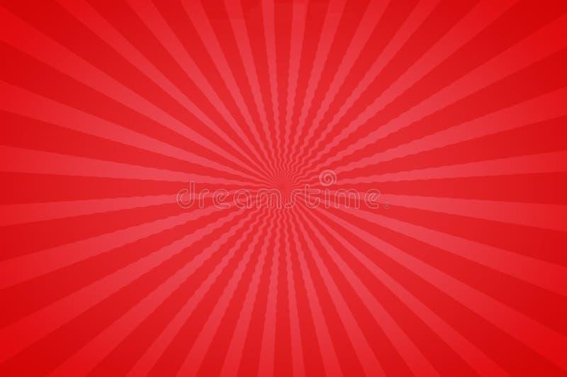 Tonos brillantes rojos en una diversión Starburst stock de ilustración