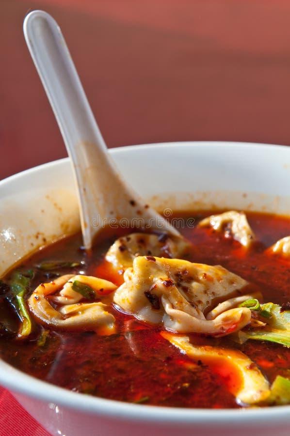 tons för soup för chiliolja segrade röda royaltyfri bild
