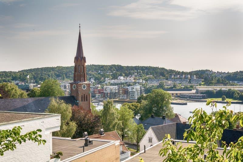 Tonsberg por panorama del día fotografía de archivo