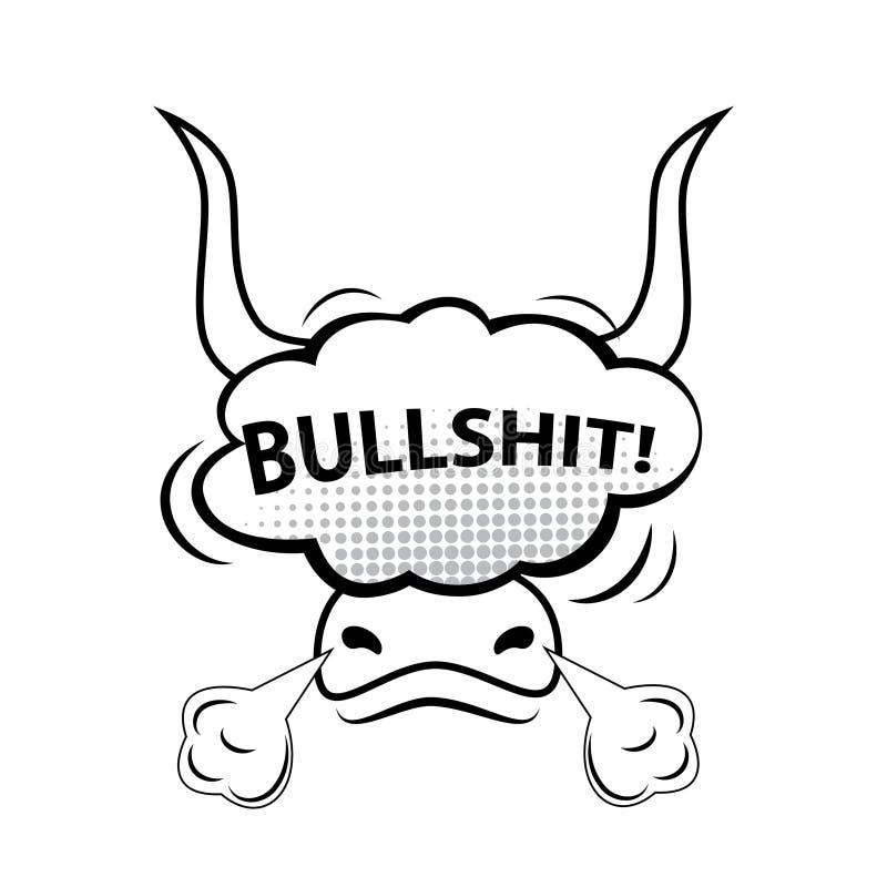 ¡TONTERÍAS! Burbuja cómica del discurso, historieta stock de ilustración