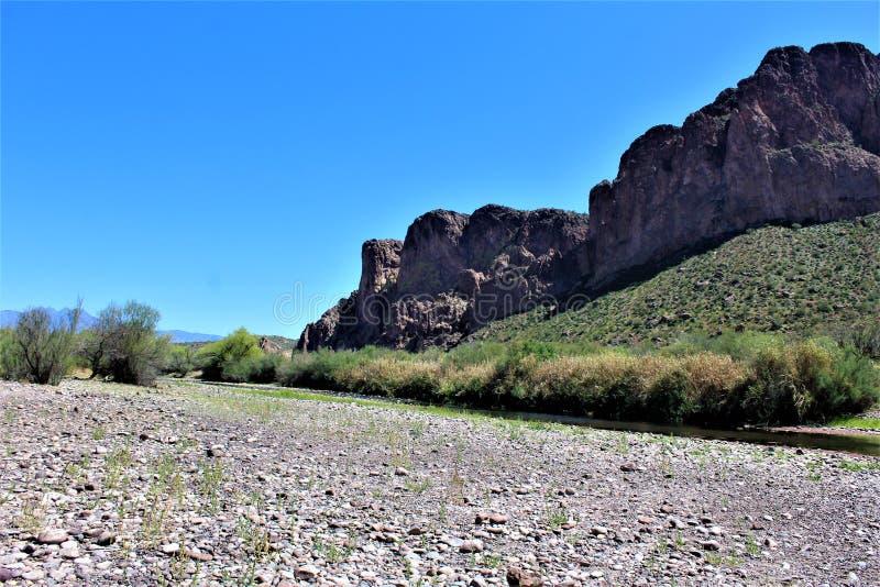 Tonto las państwowy, Solankowy Rzeczny Rekreacyjny teren, Stany Zjednoczone departament rolnictwa służby leśne, Arizona, Stany Zj obraz royalty free