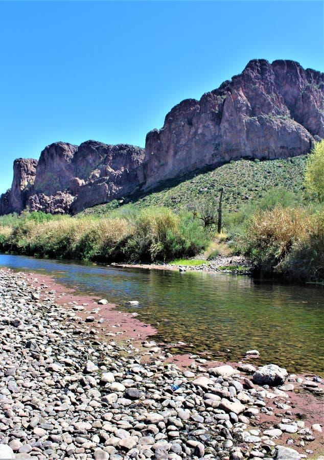 Tonto las państwowy, Solankowy Rzeczny Rekreacyjny teren, Stany Zjednoczone departament rolnictwa służby leśne, Arizona, Stany Zj zdjęcia stock