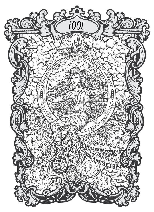 tonto Major Arcana Tarot Card libre illustration
