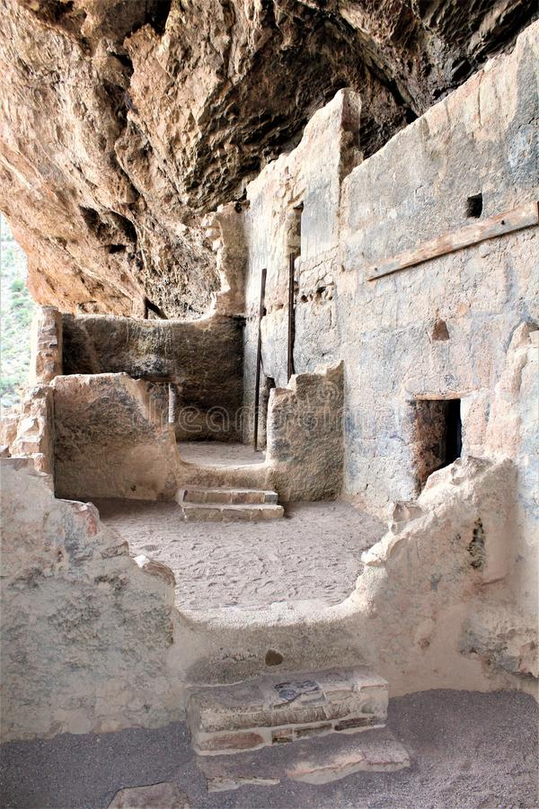 Tonto National Monument Cliff Dwellings, National Park Service, U.S. Department of the Interior. Cliff Dwellings at the Tonto National Monument, National Park stock photos