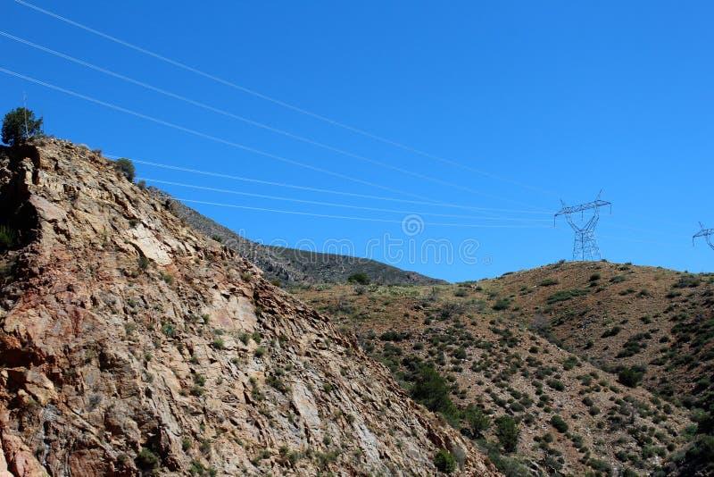 Tonto nationalskog, av huvudväg 87, Arizona U S Jordbruksavdelningen Förenta staterna royaltyfri fotografi