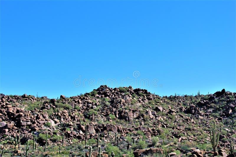 Tonto-staatlicher Wald, weg von Landstraße 87, Arizona U S Landwirtschaftsministerium, Vereinigte Staaten stockfotografie