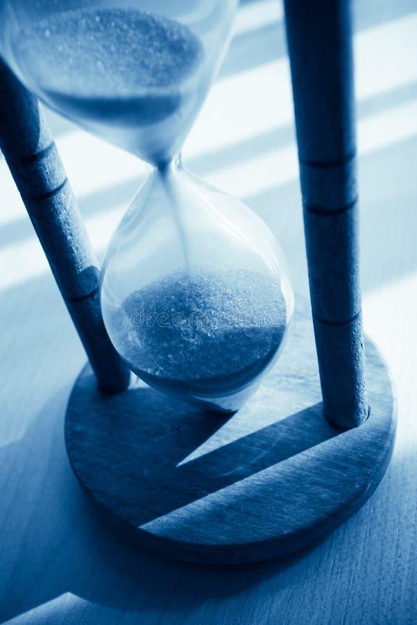 tonujący błękitny hourglass fotografia royalty free