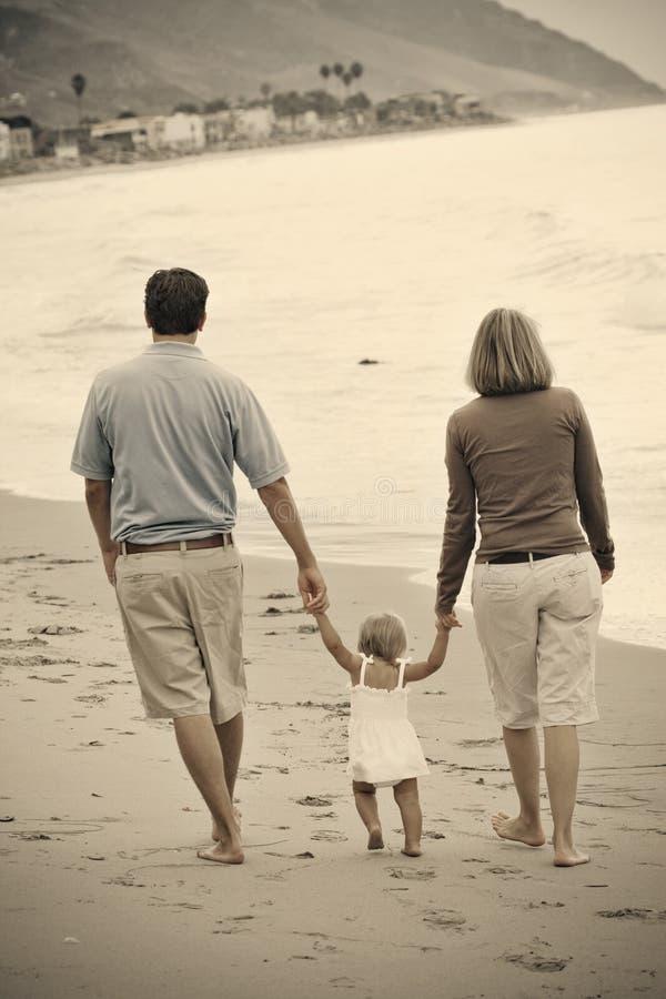 tonujący rodzinny sepia zdjęcie stock