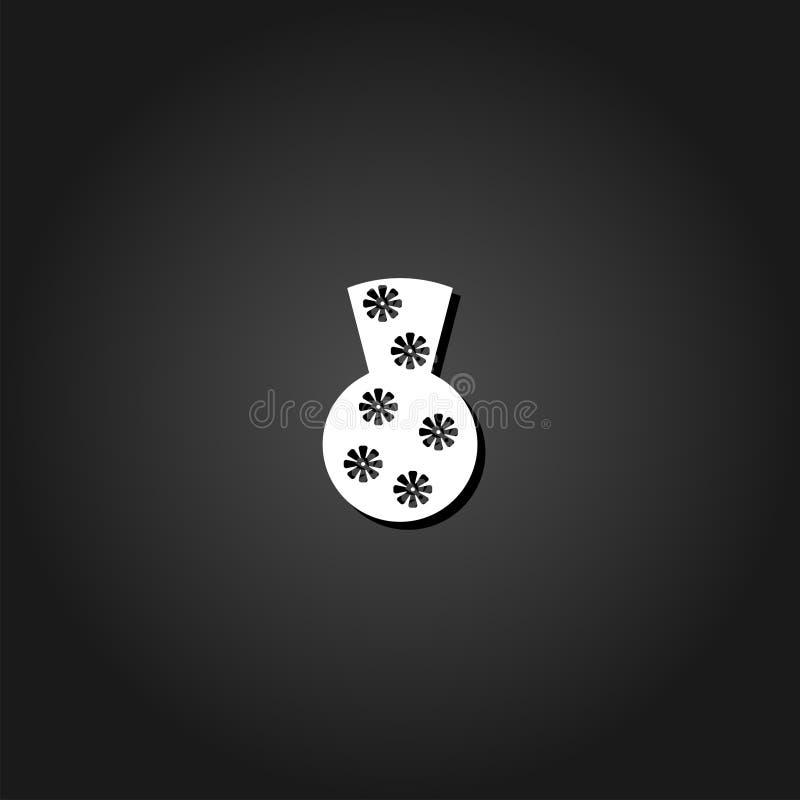 Tonwaren-Vasenikone flach vektor abbildung