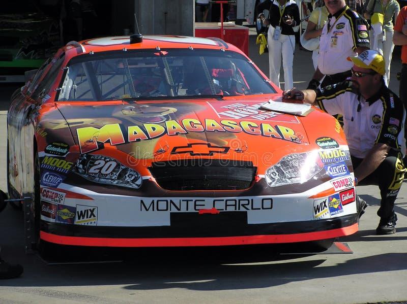 Tony & NASCAR va al Movi immagine stock