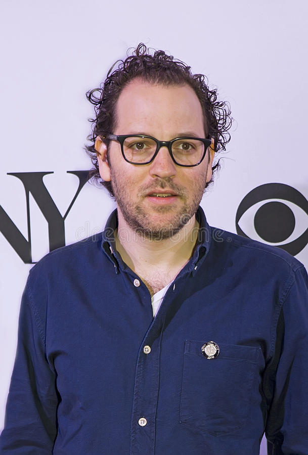 2015 Tony Awards Meet the Nominees Press Junket. Director Sam Gold arrives on the red carpet for the 2015 Tony Awards Meet the Nominees Press Junket at the royalty free stock photos
