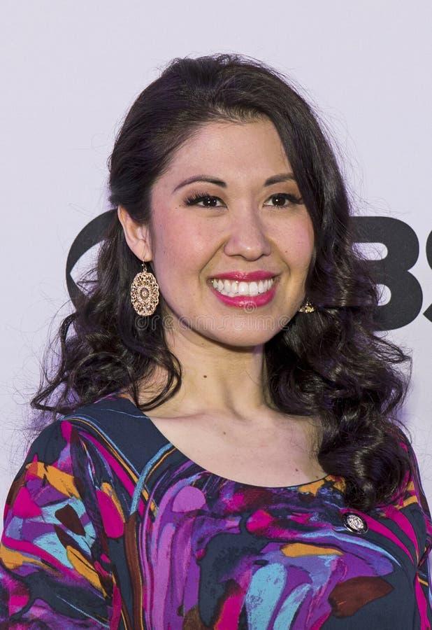 Tony Awards Meet 2015 o representante da imprensa dos candidatos imagem de stock royalty free
