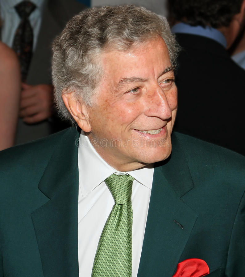 Tony Bennett. Singing legend Tony Bennett arrives on the red carpet for the premiere of United 93 at tje Ziegfeld Theatre in New York City. The screening was a royalty free stock photos