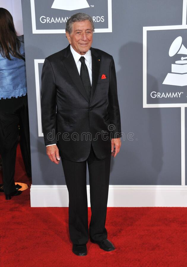 Tony Bennett. LOS ANGELES, CA - February 12, 2012: Tony Bennett at the 54th Annual Grammy Awards at the Staples Centre, Los Angeles..Picture: Paul Smith / royalty free stock image