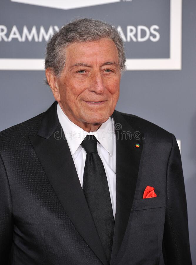 Tony Bennett. LOS ANGELES, CA - February 12, 2012: Tony Bennett at the 54th Annual Grammy Awards at the Staples Centre, Los Angeles..Picture: Paul Smith / stock image