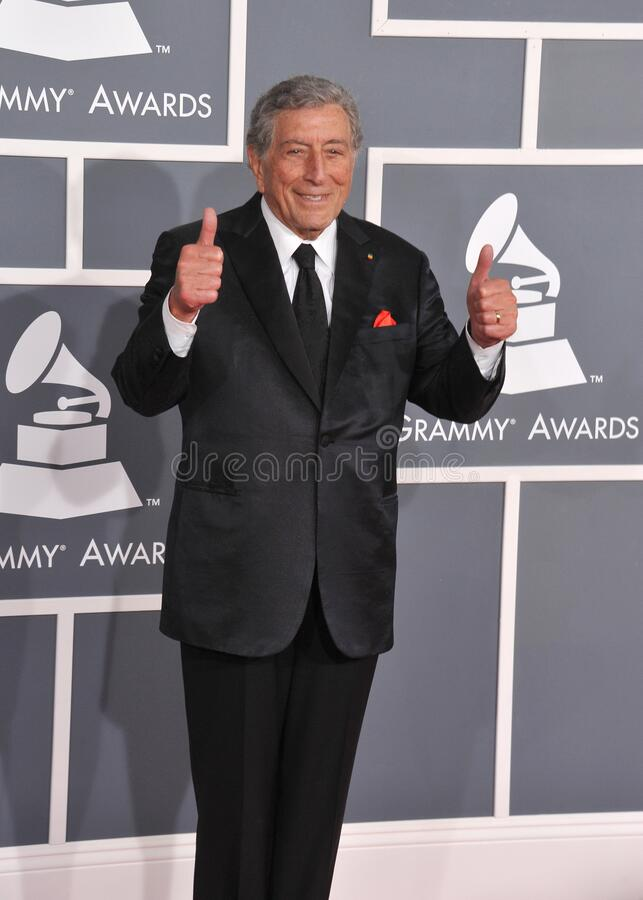 Tony Bennett. LOS ANGELES, CA - February 12, 2012: Tony Bennett at the 54th Annual Grammy Awards at the Staples Centre, Los Angeles..Picture: Paul Smith / stock photo