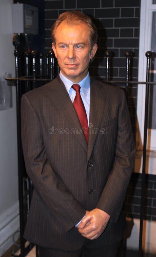 Tony Blair an der Madame Tussauds stockfotos