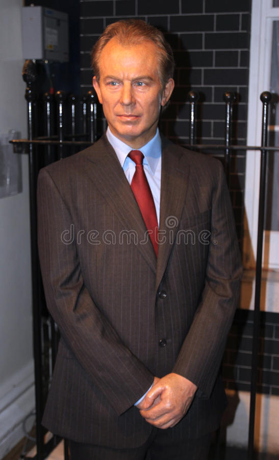 Tony Blair At Madame Tussaud S Editorial Stock Photo