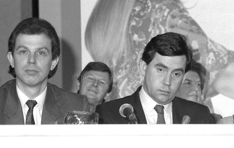 Tony Blair u. Gordon Brown lizenzfreie stockfotos