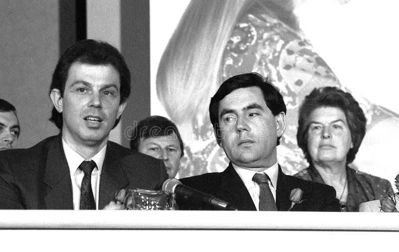 Tony Blair u. Gordon Brown lizenzfreie stockbilder