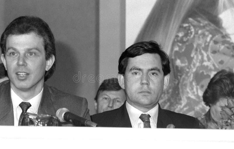 Tony Blair u. Gordon Brown lizenzfreies stockfoto