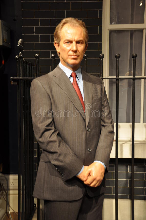 Tony Blair-Wachsstatue stockbilder