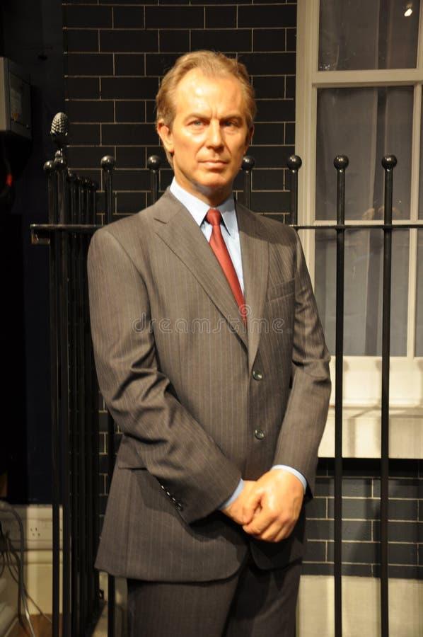 Tony Blair-wasstandbeeld stock afbeeldingen
