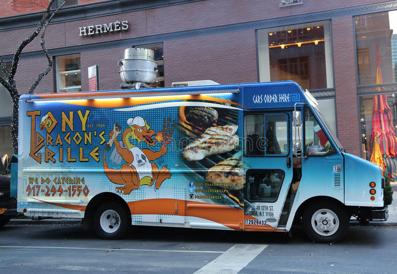 Download Tony Dragons Grille Food Truck In Midtown Manhattan Editorial Stock Photo