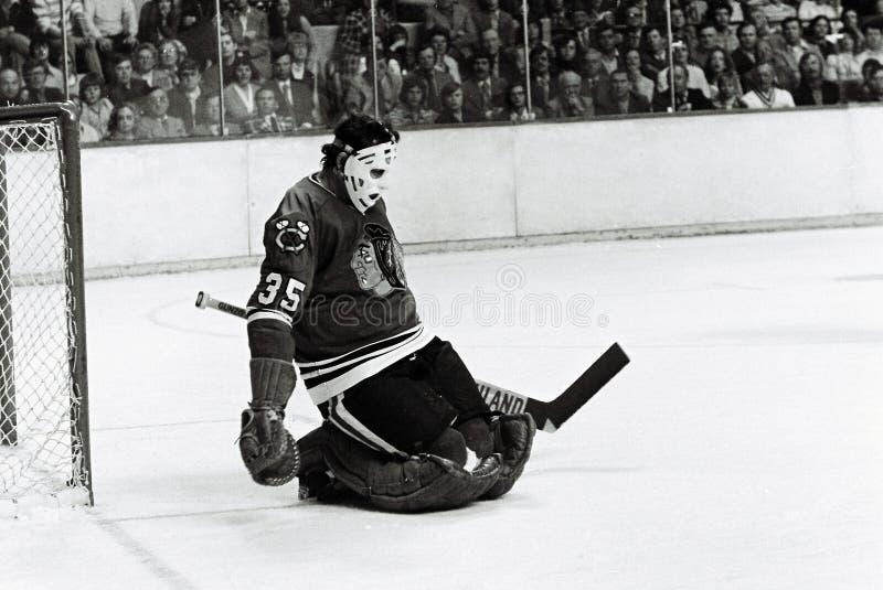 Tony Esposito Chicago Blackhawks. Hall of Fame Goaltender for the Chicago Blackhawks, Tony Esposito royalty free stock images