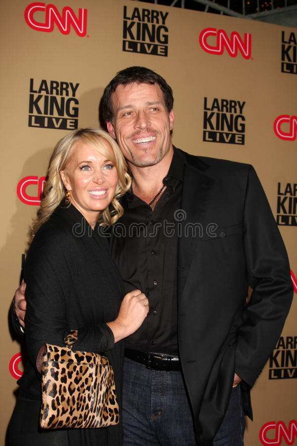 Tony Robbins, Larry King image stock