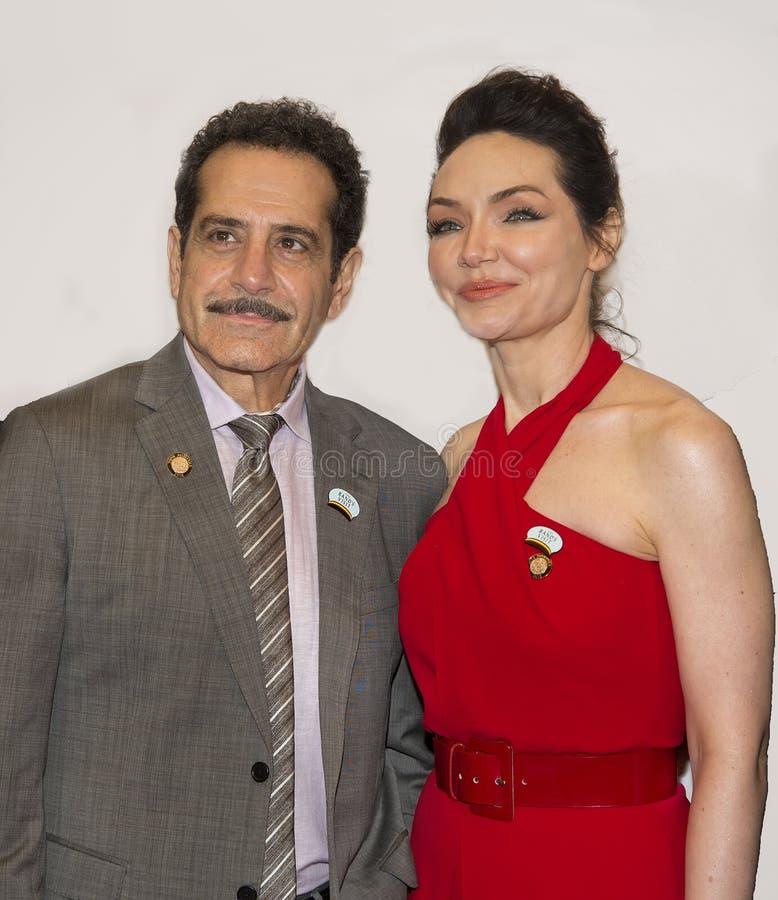 Tony Shalhoub y Katrina Lenk imagen de archivo libre de regalías